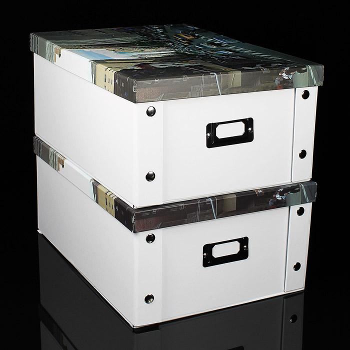 neu aufbewahrungsbox faltbar mit deckel box multibox regal schachtel regalbox ebay. Black Bedroom Furniture Sets. Home Design Ideas