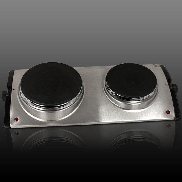 kochplatte edelstahl doppelkochplatte elektro herdplatte. Black Bedroom Furniture Sets. Home Design Ideas