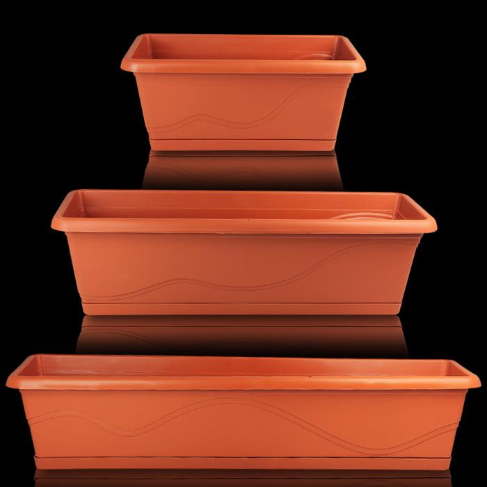 blumenkasten mit wasserspeicher balkonkasten blumentopf bew sserung pflanzkasten ebay. Black Bedroom Furniture Sets. Home Design Ideas