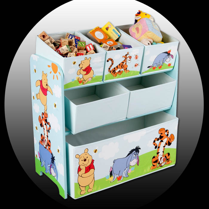disney winnie the pooh kinder aufbewahrungsbox spielzeugkiste spielzeugbox regal ebay. Black Bedroom Furniture Sets. Home Design Ideas