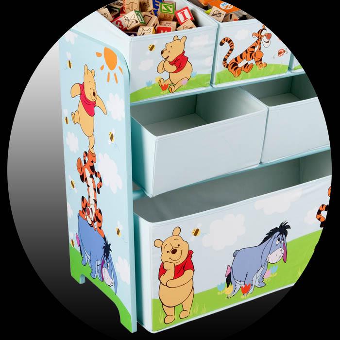 disney winnie the pooh kinder aufbewahrungsbox spielzeugkiste spielzeugbox regal ebay. Black Bedroom Furniture Sets. Home Design Ideas