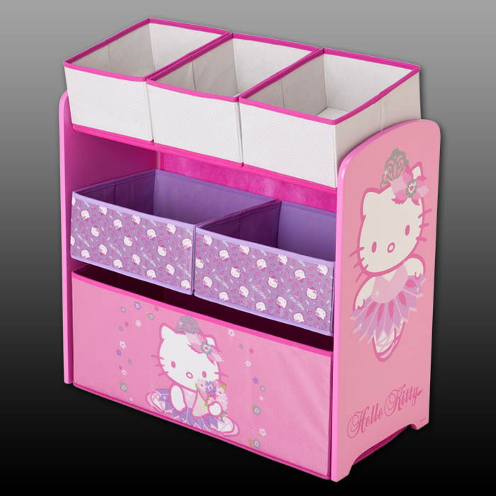 hello kitty aufbewahrungsregal regal spielzeugkiste spielzeugtruhe kinder moebel ebay. Black Bedroom Furniture Sets. Home Design Ideas