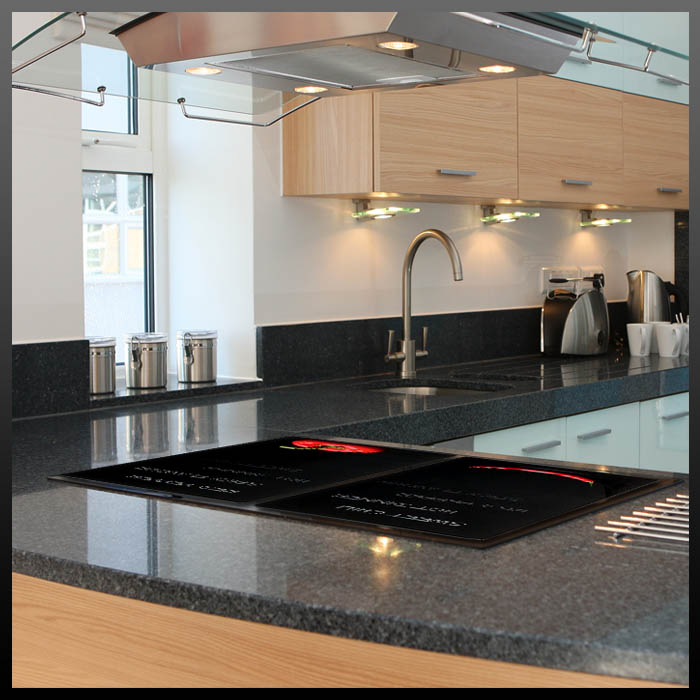 2 herdabdeckplatten herd abdeckplatten ceranfeldabdeckung glas herdabdeckung neu ebay. Black Bedroom Furniture Sets. Home Design Ideas
