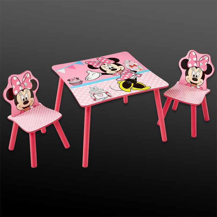 kindersitzgruppe sitzgruppe kinder m bel kinderst hle kindertisch disney minnie. Black Bedroom Furniture Sets. Home Design Ideas